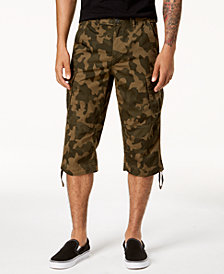 I.N.C. Men's Camo Messenger Shorts, Created for Macy's