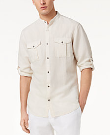 I.N.C. Men's Band Collar Fuji Shirt, Created for Macy's