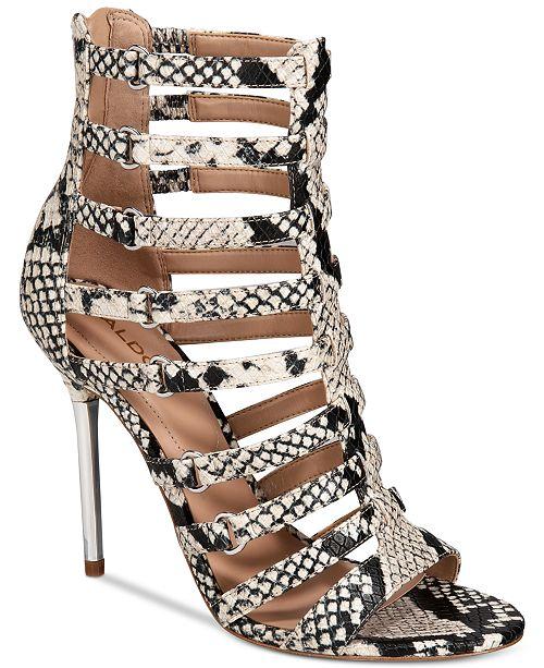 04de8c61e6f ALDO Unaclya Gladiator Dress Sandals   Reviews - Flats - Shoes ...
