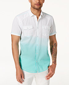I.N.C. Ombré Short-Sleeve Shirt, Created for Macy's