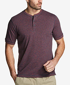 Weatherproof Vintage Men's Striped Jersey Henley