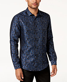 I.N.C. Men's Paisley Jacquard Shirt, Created for Macy's