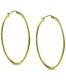 Giani Bernini Oval Hoop Earrings in 18k Gold-Plated Sterling Silver, Created for Macy's
