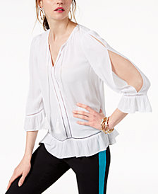 I.N.C. Cold-Shoulder Peasant Top, Created for Macy's