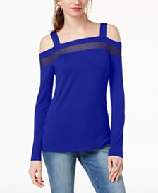 I.N.C. Cold-Shoulder Illusion Top, Created for Macy's