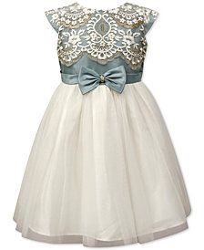 Jayne Copeland Little Girls Embroidered-Bodice Dress