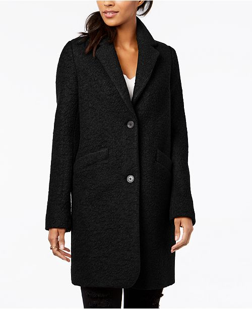 4433af0004a Marc New York Paige Bouclé Coat   Reviews - Coats - Women - Macy s