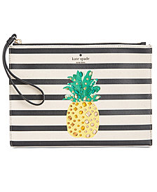 kate spade new york Canvas Pineapple Wristlet