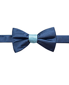 Ryan Seacrest Distinction™ Men's Contrast Solid Pre-Tied Bow Tie, Created for Macy's