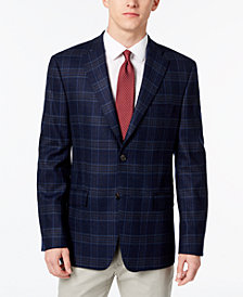 Lauren Ralph Lauren Men's Slim-Fit Ultraflex Stretch Navy/Brown Plaid Sport Coat
