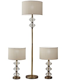 Eugene Set of 3 Lamps