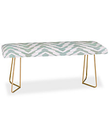 Deny Designs Georgiana Paraschiv Pastel Zigzag Bench