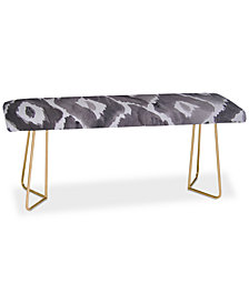 Deny Designs Natalie Baca Painterly Ikat in Black Bench