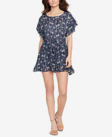 WILLIAM RAST Flutter-Sleeve Fit & Flare Dress