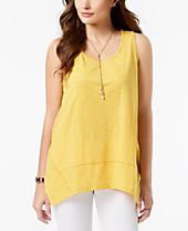 Style & Co Handkerchief-Hem Tank Top, Created for Macy's