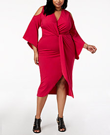 Rebdolls Plus Size Faux Wrap Dress from The Workshop at Macy's