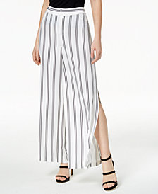 Bar III Striped Split-Leg Pants, Created for Macy's