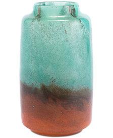 Zuo Joo Small Translucent Green & Orange Vase