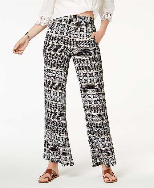 Printed Leg BCX Black taupe Juniors' Wide Pants O8W1Bq