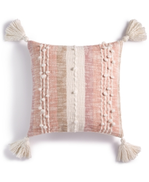 Lucky Brand Couch Textured Stripe 18 Square Decorative Pillow Created for Macys Bedding