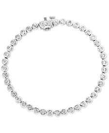 Bubbles by EFFY® Diamond Bezel-Set Tennis Bracelet (1-5/8 ct. t.w.) in 14k White Gold
