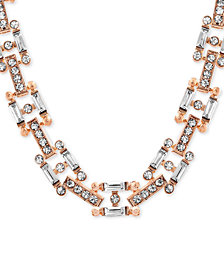 "Steve Madden Two-Tone Crystal 14"" Link Necklace"