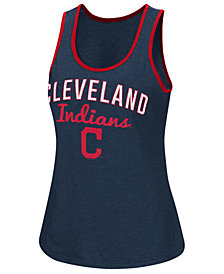G-III Sports Women's Cleveland Indians Power Punch Glitter Tank