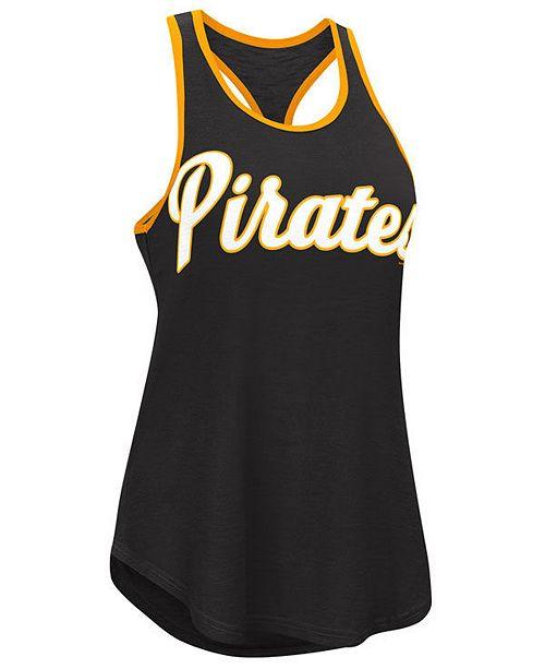 G-III Sports Women's Pittsburgh Pirates Oversize Logo Tank
