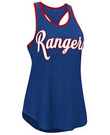 G-III Sports Women's Texas Rangers Oversize Logo Tank