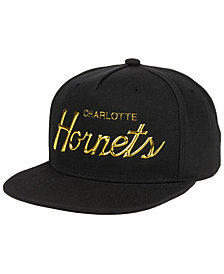 Mitchell & Ness Charlotte Hornets Metallic Tempered Snapback Cap