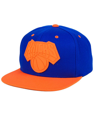 low priced 22078 47780 ... clearance mitchell ness new york knicks rubber weld snapback cap fecac  3c114