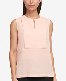 DKNY Satin Georgette Shell, Created for Macy's