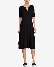 Lauren Ralph Lauren Waffle-Knit Cotton Dress