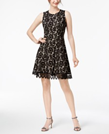 Donna Ricco Sleeveless Lace Dress