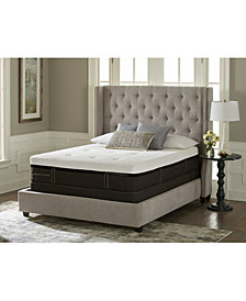 Stearns & Foster Lux Estate Hybrid Morningview Luxury Cushion Firm Mattress Set- Queen