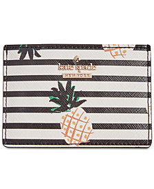kate spade new york Pineapple Striped Card Holder