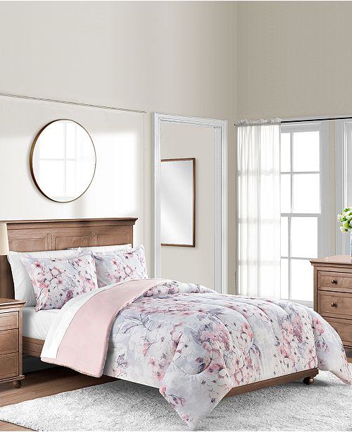 Add A Charming Touch To Any Room With The Colesville Comforter Sets Featuring Calming Fl Pattern And Blush Ground For Smooth Relaxation