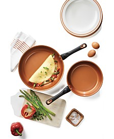 Farberware Glide Copper 2-Pc. Ceramic Non-Stick  Skillet Set