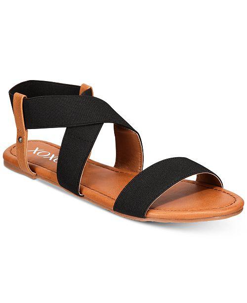 aec74a4b316e XOXO Gonzalo Strappy Flat Sandals   Reviews - Sandals   Flip Flops ...