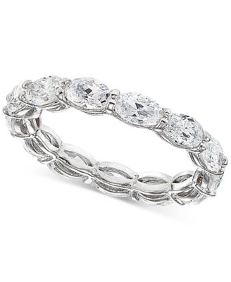 Cubic Zirconia Stackable Oval Band in Sterling Silver, Created for Macy's