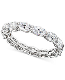Giani Bernini Cubic Zirconia Stackable Oval Band in Sterling Silver, Created for Macy's