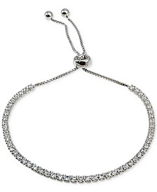 Cubic Zirconia Slider Bracelet in Sterling Silver, Created for Macy's