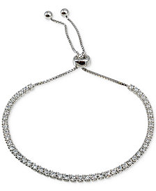 Giani Bernini Cubic Zirconia Slider Bracelet in Sterling Silver, Created for Macy's