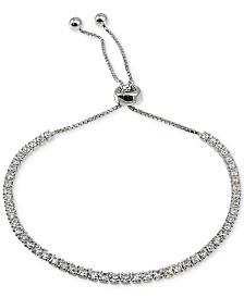 Giani Bernini Cubic Zirconia Slider Bracelet in Sterling Silver, Created for Macy's
