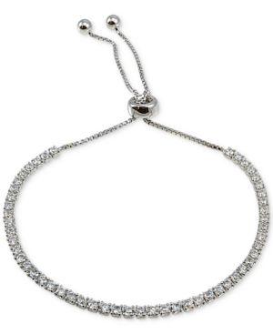 GIANI BERNINI   Giani Bernini Cubic Zirconia Slider Bracelet In Sterling Silver, Created For Macy'S   Goxip