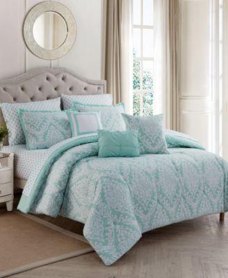 Hyde Damask 10-Pc. Queen Comforter Set