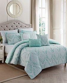 Hyde Damask 10-Pc. Comforter Sets