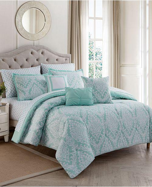 Mytex Hyde Damask 10-Pc. King Comforter Set