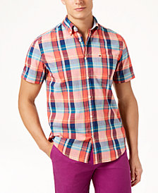 Tommy Hilfiger Men's Hector Madras Plaid Classic Fit Shirt, Created for Macy's