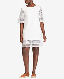 Lauren Ralph Lauren Plus Size Cotton Shift Dress